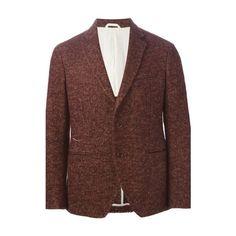 Al Duca d' Aosta 1902 Burgundy Bouclè Tweed Blazer ($215) ❤ liked on Polyvore featuring men's fashion, men's clothing, men's sportcoats, men, bordeaux, mens clothing, mens tweed blazer, men's apparel, mens blazer jacket and mens blazers
