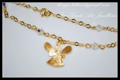 Angel Bracelet Silver 925 Gold-plated Swarovski® Crystals Price: 45 euros Order code: 01B66k e-mail: design.lakasa@gmail.com #angel #αγγελάκι #βραχιόλι #ασημένιο #925 #silver #bracelet #jewellery #gold-plated #lakasa #eshop Χειροποίητο Βραχιόλι Ασημένιο 925 Επιχρυσωμένο Αγγελάκι σε αλυσίδα με κρυστάλλους Swarovski