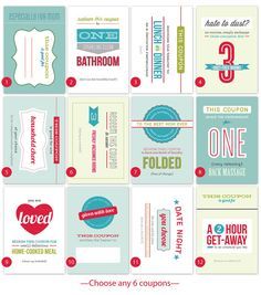cute mother's day coupons via Pearenthetical Press #mothersday
