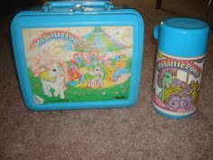 Vintage 1989 Hasbro Aladdin My Little Pony Lunch Box and Thermos. $7.00, via Etsy.