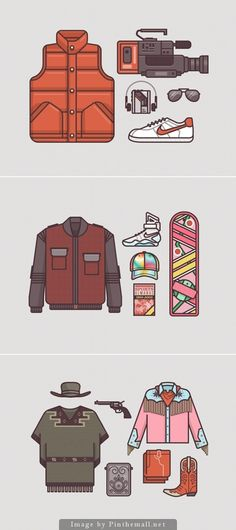 Illustrations of Back to the Future