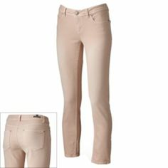 LC Lauren Conrad Color Skinny Ankle Jeans