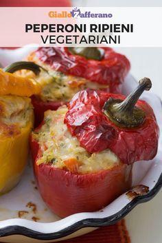 Vegetable Recipes, Vegetarian Recipes, Healthy Recipes, Easy Vegetarian Stuffed Peppers, Go Veggie, No Salt Recipes, Italian Recipes, Food Porn, Food And Drink