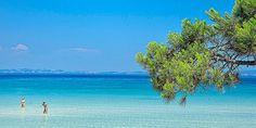 Η παραλία Βουρβουρού στη Χαλκιδική. Places In Greece, Paradise On Earth, Exotic Places, Macedonia, Ancient Greek, Homeland, Places Ive Been, The Good Place, Golf Courses