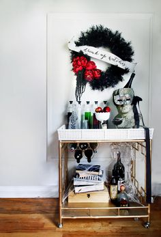 "Halloween Bar Cart ""Drink Up Witches"""