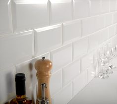 A popular matt white brick-shaped biselado bevelled edge tile. These timeless ceramic matt white metro tiles are ideal for bathroom or kitchen walls, order white metro tile samples online with free delivery. White Wall Tiles, Wall And Floor Tiles, Wall Tile Adhesive, Glass Brick, Metro Tiles, Splashback, Bathroom Wall, Kitchen Walls, Brick Tiles