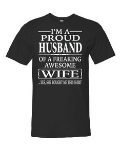 I'm A Proud Husband Of A Freaking Awesome Wife Unisex Shirt - Proud Husband Shirt - Husband Gift by FamilyTeeStore on Etsy
