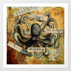 Multitasking  Art Print by JeweledFrogCreations - $18.72