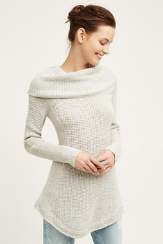 Sculpted Cowl Pullover - anthropologie.com