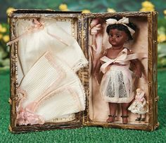 German All-Bisque Brown-Complexioned Doll, 886, by Simon and Halbig in Trunk.