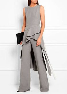 - Chambray wide-leg pants, Asymmetric chambray tunic, ( ADEAM ) - Lattice-paneled leather ankle boots ( FRANCESCO RUSSO ), Antigona pouch in black textured-leather ( GIVENCHY ) Beautiful Outfits, Cool Outfits, Chambray Tunic, Mode Inspiration, Ideias Fashion, Evening Dresses, Fashion Dresses, Dress Up, Dresses For Work