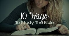 Ten Ways to Study the Bible   Jesus Daily