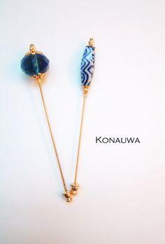 Blue Hijab Pin Set by Konauwa on Etsy, $10.00