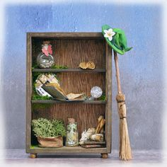 kind witch halloween magical fantasy lover gift wiccan miniature cabinet