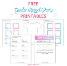 FREE Gender Reveal Baby Shower Party Printables from Printabelle ...