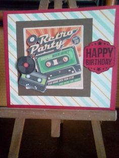 Carte anniversaire retro