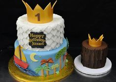Where the wild things are cake and smash cake Boys First Birthday Party Ideas, Twin First Birthday, Wild One Birthday Party, First Birthday Cakes, Baby Birthday, Birthday Party Themes, Birthday Photos, Twins 1st Birthdays, Cake Smash