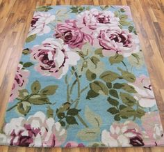 Elise ES3 Blue / Pink Rugs - buy online at Modern Rugs UK