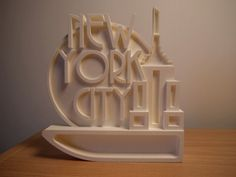Empire 3D Printed Wall Art/Ornament New York by Bespoke3DPrinting