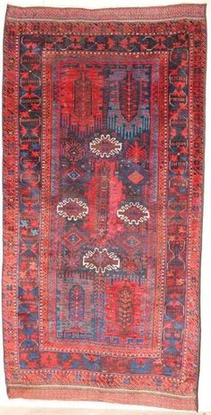 Timuri Balouch, Afghanistan second half 19th century exhibited by Augusto Rillosi. Rugs and carpets on display at Sartirana Textile Show