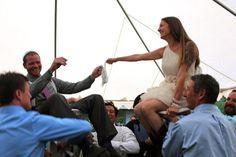 Jewish wedding dancing at a fun outdoor DIY wedding
