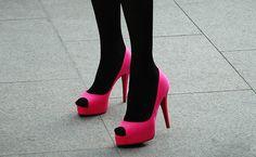 Hot Pink + Black.
