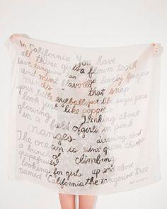 poem scarf - etsy