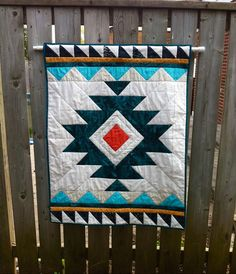 Handmade Tribal Aztec Quilt// Baby Quilt// by bohoquilts on Etsy