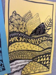 Art at Becker Middle School: Zentangle Landscapes