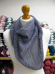 Our Super Eyelet shawl is one of our most popular patterns in our Pittenweem shop and on Ravelry.