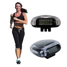 Crystal Multi Function Electronic Pedometer with Calculated Calories (Random Color). Available Color White, Pink, Black(Ships in Random Colors).