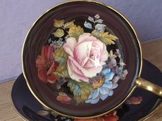 RARE Antique Aynsley JA Bailey tea cup and saucer door ShoponSherman