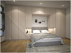 "Explore our internet site for additional information on ""murphy bed ideas space saving"". It is an outstanding place to get more information. Bedroom Bed Design, Home Decor Bedroom, Bedroom Furniture, Master Bedroom, Trendy Bedroom, Modern Bedroom, Modern Murphy Beds, Fitted Bedrooms, Balkon Design"