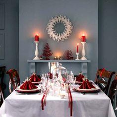 Новогодний декор: красно-белое сочетание цветов