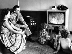 1954 - The start of Italian Television RAI. At the begin Tv was a luxury object and Italians join each others at the homes of the few people whose own a Tv.