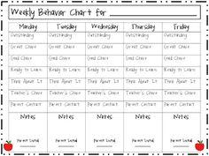 Clip Chart Weekly Behavior (Freebie)