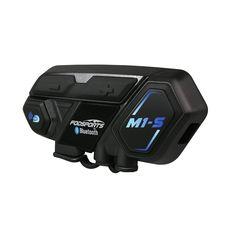 M1-S Pro Casque moto Intercom Bluetooth Casque 8 coureurs 2000M BT 4.1 Intercom