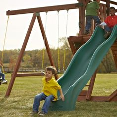 We are the destination for your slide needs... We have a wide selection and a LIFETIME warranty on all our slides.  Check out the selection http://www.swing-n-slide.com/Categories/6-Slides.aspx?source=pinterest0729