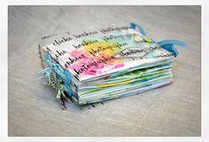 Handmade Journals, Handmade Books, Mini Albums Scrapbook, Mini Books, Flip Books, Art Journal Pages, Junk Journal, Pocket Letters, Book Making