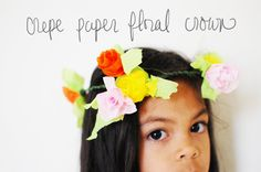 crepe paper floral crown