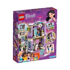 LEGO Friends - Emma's Art Studio and thousands more of the very best toys at Fat Brain Toys. On the main floor is a gallery with artwork to buy and a cash register. Upstairs is Emma's studio, complete with a canvas that reveal. Lego Friends Birthday, Lego Friends Sets, Textile Intelligent, Lego Activities, Atelier D Art, Lego System, Lego Construction, Lego Toys, Presents For Friends