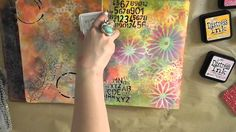 Art Journal: Creating background with Distress Paints