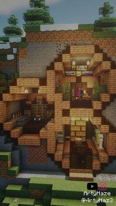 Minecraft Cliff House, Minecraft Garden, Minecraft Tips, Minecraft Tutorial, Minecraft Blueprints, How To Play Minecraft, Minecraft Crafts, Minecraft Designs, Minecraft Buildings