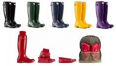 A Roll-Up Version Of Hunter's Classic Wellies Just Hit Stateside