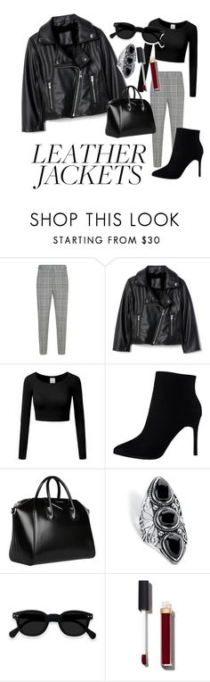 """""""Black Leather Jacket Look"""" by baharceceloglu on Polyvore featuring Alexander Wang, Givenchy, Palm Beach Jewelry, Chanel, black and classy"""