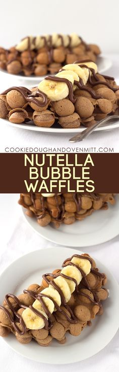 Nutella Bubble Waffles - Cookie Dough and Oven Mitt