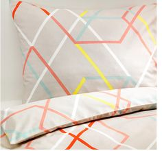 We love these geometric designs throughout the collection. Slip this duvet cover over the comforter you already have for a mod new look.