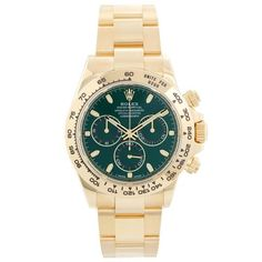 It's not too late for some last-minute holiday shopping! See watches inspired by the color of the season, green! Rolex Watches For Men, Fine Watches, Swiss Watch Brands, Rolex Cosmograph Daytona, Gold Watch, Chronograph, Markers
