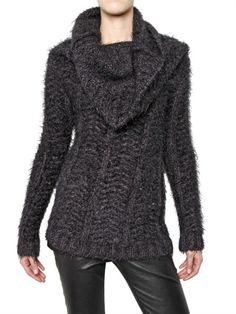Ann Demeulemeester  CABLE KNIT MOHAIR SWEATER