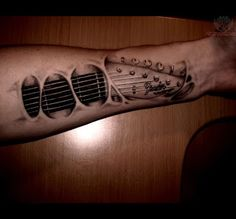 amazing music tattoo on wrist
